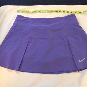 Nike purple Dri Fit running skirt with shorts
